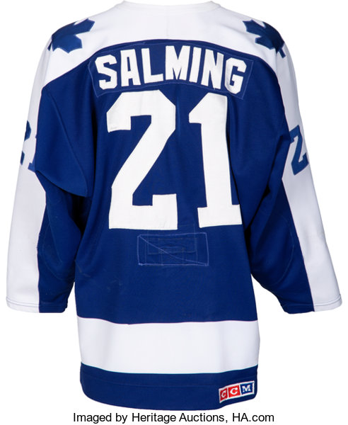 9ff0913784c 1985-86 Borje Salming Game Worn Toronto Maple Leafs Jersey.... | Lot #50906  | Heritage Auctions
