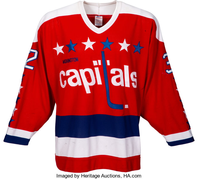 best sneakers ff32a 158ac 1987-88 Dale Hunter Game Worn Washington Capitals Jersey ...
