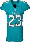 Football Collectibles:Uniforms, 2015 Jay Ajayi Game Worn & Unwashed Miami Dolphins Jersey with Player Letter. ...