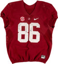 Football Collectibles:Uniforms, Circa 2015 A'Shawn Robinson Game Worn Alabama Crimson Tide Jersey - With Team Repairs!...