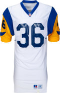 Football Collectibles:Uniforms, 1993 Jerome Bettis Game Worn & Signed Los Angeles Rams Rookie Jersey....
