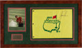 Miscellaneous Collectibles:General, 2000 Tiger Woods Signed Masters Flag Display....