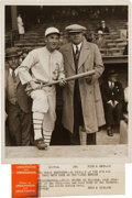 Baseball Collectibles:Photos, 1929-30 Al Simmons & Babe Ruth Original Photograph by Underwood& Underwood, PSA/DNA Type 1. ...