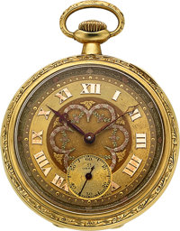 Omega 14k Gold Pocket Watch, circa 1916