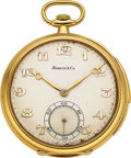 Timepieces:Pocket (post 1900), Cresarrow Watch Co. Gold Minute Repeater For Marcus & Co. . ...