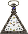 Timepieces:Pocket (post 1900), G. Schwab-Loeillet Silver Masonic Watch, circa 1910. ...