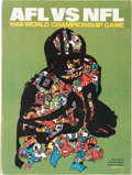 Football Collectibles:Programs, 1968 Super Bowl II Program and Ticket Stubs....