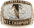 Football Collectibles:Others, 1998 Atlanta Falcons NFC Championship Ring Presented to Safety Chris Bayne. ...