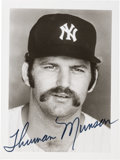 Autographs:Photos, Circa 1976 Thurman Munson Signed Photograph, PSA/DNA Mint 9....