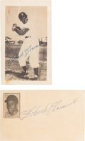 Autographs:Photos, Late 1950's Roberto Clemente Signed Photograph & Index Card Lot of 2....