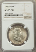 Franklin Half Dollars: , 1960-D 50C MS65 Full Bell Lines NGC. NGC Census: (129/2). PCGS Population: (662/48). CDN: $270 Whsle. Bid for problem-free ...