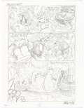 "Original Comic Art:Miscellaneous, Mark Bodé Teenage Mutant Ninja Turtles: ""Times"" PipelineStory Pages Preliminary Artwork Original Art ... (Total: 8 OriginalArt)"