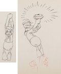 Animation Art:Production Drawing, Donald and Pluto Donald Duck Animation Drawings Group of 2(Walt Disney, 1936). ... (Total: 2 Items)