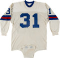 Football Collectibles:Uniforms, Early 1970's Charlie Evans Game Worn New York Giants Jersey....