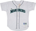 Baseball Collectibles:Uniforms, 1996 Jay Buhner Game Worn & Signed Seattle Mariners Jersey....
