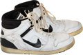 Basketball Collectibles:Others, 1986 Artis Gilmore Game Worn & Signed Sneakers.... (Total: 2 items)