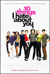 """10 Things I Hate About You & Others Lot (Buena Vista, 1999). One Sheets (3) (26.75"""" X 39.75"""" &..."""