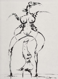 Clive Barker (English, b. 1952) Untitled Ink on paper 24 x 18 in. (sheet) Signed lower right