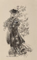 James Montgomery Flagg (American, 1877-1960) Beauty in Fall Inkwash on paper laid on board 13.75 x 8.5 in. (sheet) S