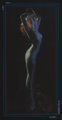 Rolf Armstrong (American, 1889-1960) Midnight Nymph Pastel on black paper 33.5 x 15.5 in. Not signed