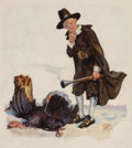 Paintings, Edgar F. Wittmack (American, 1894-1956). Thanksgiving, probable magazine cover, 1924. Oil on canvas. 30 x 27 in.. Signed...