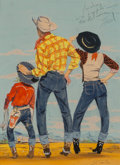 Other, J. Frederick Smith (American, 20th Century). Family Vacation Out West, Coronet magazine cover, September 1951. Gouache o...