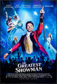 """The Greatest Showman (20th Century Fox, 2017). One Sheets (2) (27"""" X 40"""") DS Advance, A & B Styles. Mu..."""