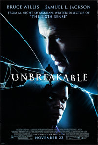 "Unbreakable & Other Lot (Buena Vista, 2000). One Sheets (2) (27"" X 40"") DS Advance. Drama. ... (Total: 2 I..."