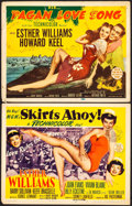 "Movie Posters:Comedy, Skirts Ahoy! & Other Lot (MGM, 1952). Title Lobby Cards (2) (11"" X 14""). Comedy.. ... (Total: 2 Items)"