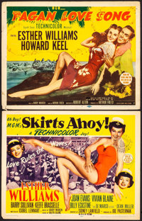 "Skirts Ahoy! & Other Lot (MGM, 1952). Title Lobby Cards (2) (11"" X 14""). Comedy. ... (Total: 2 Items)"