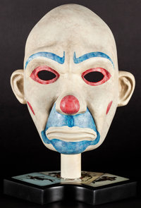 The Dark Knight Joker Robbery Mask (The Noble Collection, 2008). Hand-Painted Cold-Cast Porcelain Display Mask (Approxim...