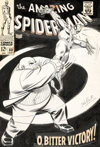 John Romita Sr. Amazing Spider-Man #60 Cover Kingpin Original Art (Marvel, 1968)