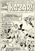 Original Comic Art:Splash Pages, Jack Kirby and Chic Stone X-Men #10 Splash Page 1 Ka-Zar andZabu Original Art (Marvel, 1965)....