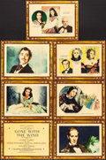 """Movie Posters:Academy Award Winners, Gone with the Wind (MGM, 1939). Trimmed Roadshow Title Lobby Card & Lobby Cards (6) (9.75"""" X 13"""") Armando Seguso Artwork. Ac... (Total: 7 Items)"""