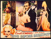 """Love Before Breakfast (Universal, 1936). Trimmed Lobby Card (10"""" X 13""""). Comedy"""