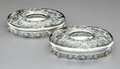 Silver & Vertu:Hollowware, Two Tiffany & Co. Partial Gilt Silver Vanity Boxes, New York, New York, 1892-1902. Marks: TIFFANY & CO, MAKERS, STERLING S... (Total: 2 Items)