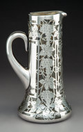 Silver Holloware, American:Pitchers, An Alvin Silver Overlay Clear Glass Pitcher, Providence, Rhode Island, circa 1900. Marks: PATENTED 325-L, 999/1000 FINE,...