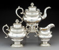 Silver Holloware, American:Tea Sets, A Three-Piece Gerardus Boyce Coin Silver Tea Service, New York, first half 19th century . Marks: G. BOYCE, N. YORK. 9-3/... (Total: 3 Items)