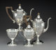 A Four-Piece Dominick & Haff Silver Tea and Coffee Service, New York, circa 1904 Marks: (rectangle-circle-diamon...