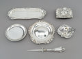 Decorative Arts, British:Other , Six British and American Silver Desk Items, late 18th century and later. Marks: (various). 2 x 3-3/8 x 2-3/8 inches (5.1 x 8... (Total: 6 Items)