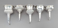 Silver & Vertu:Hollowware, Five English Silver Wine Funnels, late 18th century - early 19th century. Marks: (various English hallmarks). 6-3/4 x 4 x 4 ... (Total: 5 Items)