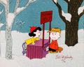 Animation Art:Limited Edition Cel, A Charlie Brown Christmas Lucy and Charlie Brown LimitedEdition Cel #256/500 (Bill Melendez, c. 1990s). ...