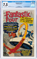 Silver Age (1956-1969):Superhero, Fantastic Four #3 (Marvel, 1962) CGC VF- 7.5 Off-white pages....