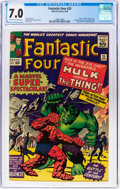 Silver Age (1956-1969):Superhero, Fantastic Four #25 (Marvel, 1964) CGC FN/VF 7.0 Off-white to whitepages....