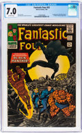 Silver Age (1956-1969):Superhero, Fantastic Four #52 (Marvel, 1966) CGC FN/VF 7.0 Off-white pages....