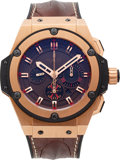 Timepieces:Wristwatch, Hublot, Rare King Power Arturo Fuente Opus X Chronograph, 18K RoseGold and Titanium, Ltd Ed. 064/100, Ref. 703.OX.3113.HR.OPX...
