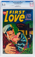 Golden Age (1938-1955):Romance, First Love Illustrated #35 (Harvey, 1953) CGC VF+ 8.5 Light tan tooff-white pages....