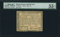 Colonial Notes:Rhode Island, Rhode Island July 2, 1780 $3 PMG About Uncirculated 53 EPQ.. ...