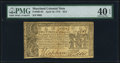 Colonial Notes:Maryland, Maryland April 10, 1774 $2/3 PMG Extremely Fine 40 EPQ.. ...