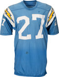 Football Collectibles:Uniforms, 1970-72 Gary Garrison Game Worn San Diego Chargers Jersey....